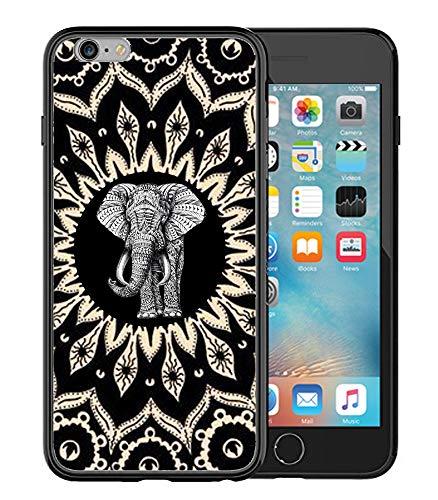 Matcase for iPhone 6 Plus/iPhone 6S Plus Case - Mandala Elephant Hard Clear Transparent Anti Scratch Resistance with Full Protection TPU Bumper Designer Case
