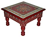 Designer Home Décor Wooden Low Table Stool Painted
