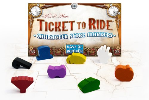(Days of Wonder Ticket to Ride Character Score Markers)