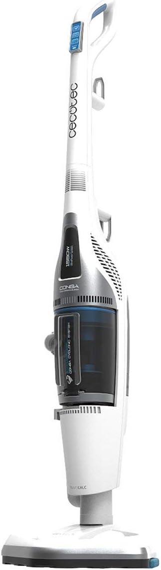 Cecotec Conga Steam&Clean. Aspirador Vaporeta 4 en 1: Barre, aspira, Pasa la mopa y friega con Vapor. Potencia 1550W. Sin Bolsas. Ciclónico Silencioso. Elimina el 99'5% bacterias. Filtro HEPA.