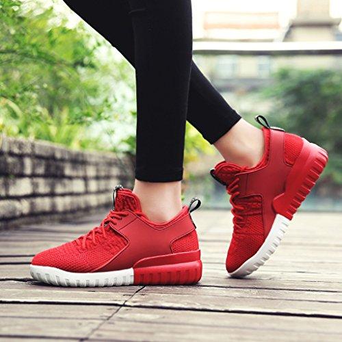 Plat Femme 36 Hwf Taille Sport Rouge De Course Respirant Chaussures Maille Noir Couleur Femmes Printemps Casual agqxSwpq