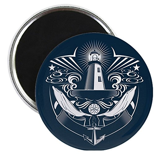 2.25 Inch Magnet Lighthouse Crest Anchor Dolphins