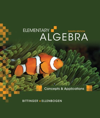 Algebra 1 Concepts - Elementary Algebra: Concepts and Applications (8th Edition)