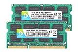 DUOMEIQI NEW Brand 8GB (2X 4GB) 2pcs 4GB DDR3 2RX8 PC3-10600S 1333MHz 204pin 1.5v SODIMM Notebook Laptop Memory RAM