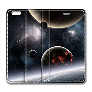Galaxy Personalized Design Iphone 6 Leather Case Planets