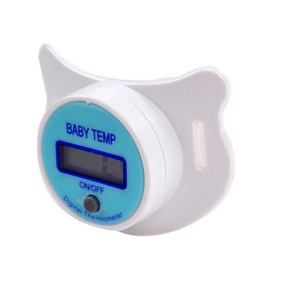 Sealive Newborn Baby Soft Nipple Pacifier Thermometer Children Digital Temperature Baby Temp,Mouth Soother Healthy Safe Electronic Waterproof Temperature Check Meter LCD Display(1pc) by Sealive