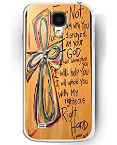 Perfect Fit Slim Cases for Samsung Galaxy S4, UKASE High Quality Hard Cover Case with Stylish Design of Fear Not, For I am with You Be Not Dismayed, I am Your God, I Will Help You, I will Uphold You with My Righteoud Right Hand sale on ZENG Case