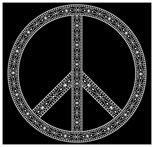 New Black and White Retro Sticker Peace Sign Symbol Hippie 60s 70s Anti War CND