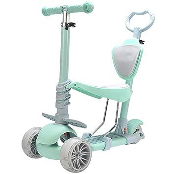 MOIMK 5 En 1 Scooter Patinete para Niños con Asiento Cesta 3 ...