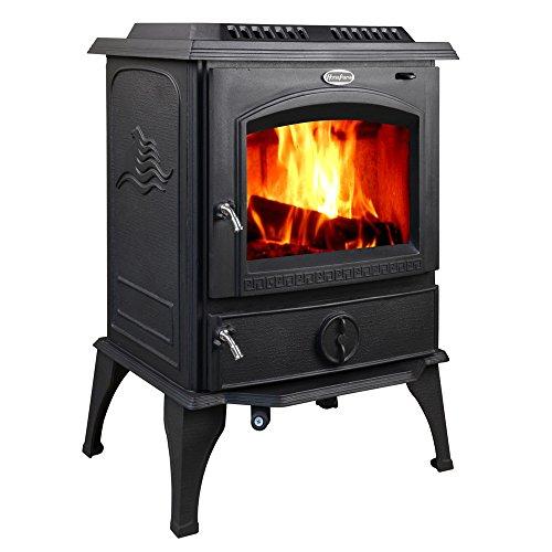 Stove Pipe Wood Installation Burning - HorseFlame all cast iron freestanding wood burning stove 717U Matt black
