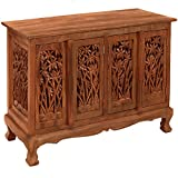 Exp 39-Inch Handmade Bamboo Forest Storage Cabinet/Sideboard Buffet, Natural Brown
