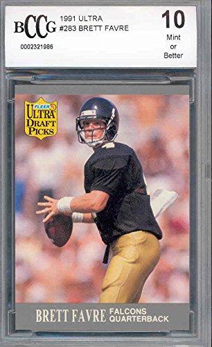 1991-ultra-283-brett-favre-green-bay-packers-rookie-card-bgs-bccg-10-graded-card
