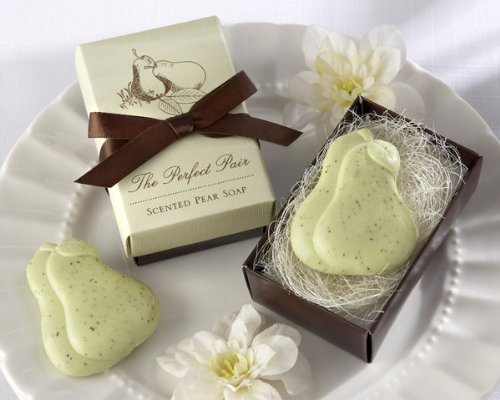''The Perfect Pair'' Scented Pear Soap - Baby Shower Gifts & Wedding Favors (Set of 12)