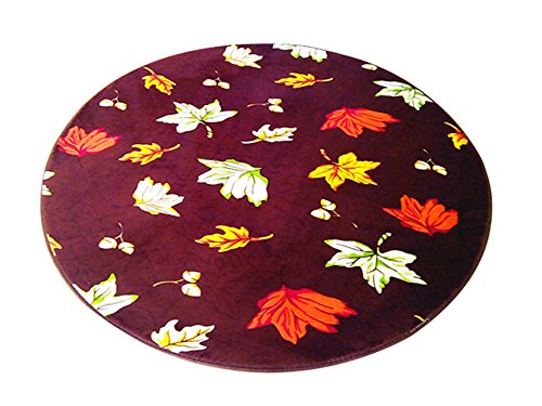 Multi-size Print Round Carpet Area Floor Rug Doormat LivebyCare Coral Fleece Entrance Entry Way Front Door Mat Runner Ground Rugs for for Decor Decorative Study Room by LivebyCare