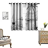 Best Tommy Bahama Beach Boats - Warm Family Black and White Window Curtain Drape Review