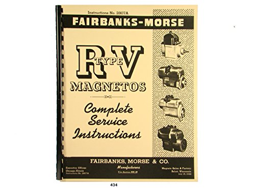 Fairbanks Morse Magneto Service & Parts Manual for RV Series Mags