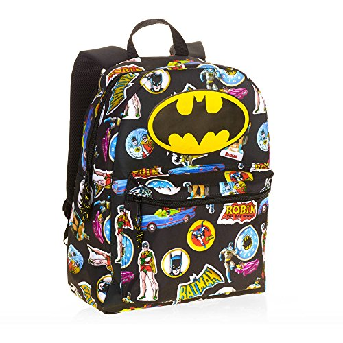 Batman Comic 16 Standard Size Backpack (Dc Backpacks For Boys)