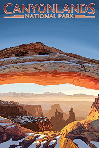 Canyonlands National Park, Utah - Arch (12x18 Art Print, Wall Decor Travel Poster)