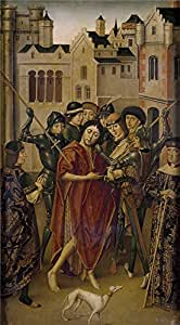 Oil painting 'Maestro de Miraflores Prision de San Juan Bautista 1490 1500 ' printing on polyster Canvas , 16 x 29 inch / 41 x 74 cm ,the best dining Room artwork and Home gallery art and Gifts is this Best Price Art Decorative Prints on Canvas