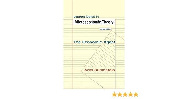 amazon com lecture notes in microeconomic theory the economic rh amazon com