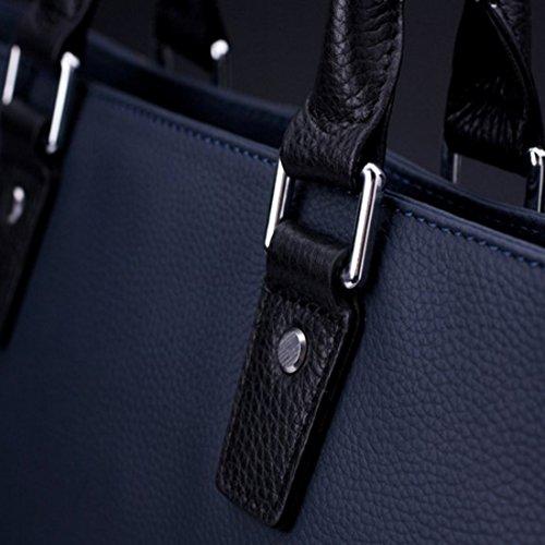 Ungfu Mall hommes en cuir de sac à bandoulière loisirs couture fermeture éclair