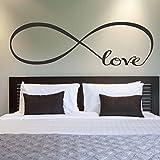 Wall Stickers, Franterd Bedroom Decor Infinity Symbol Word Love Vinyl Art Decal 7'' X 22'' (Kitchen)