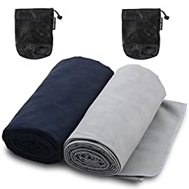 The Friendly Swede Microfiber Towels for Sports, Gym, Yoga, Travel, Swim, Hiking and Camping, Ultralight and Quick…