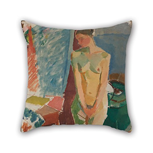 KooNicee Pillow Shams Of Oil Painting Karl Isakson - Standing Nude For Dining Room Play Room Divan Club Indoor Chair 18 X 18 Inches / 45 By 45 Cm(two Sides)
