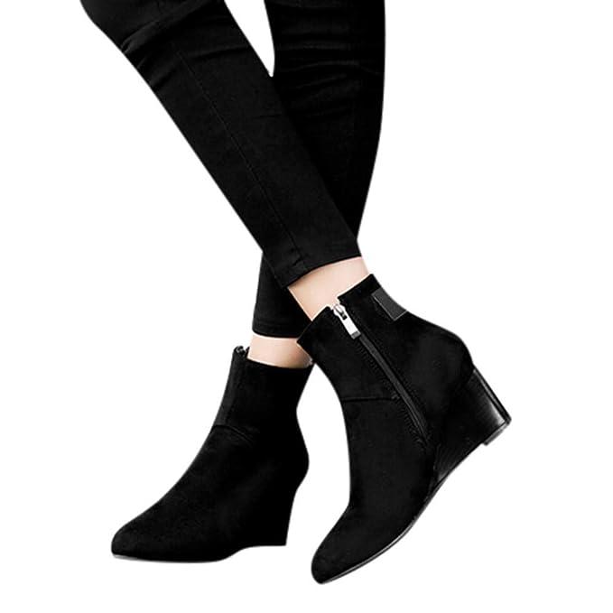 Amazon Com Gyoumen Ladies Office Boots Shoes Work Short Boots Women