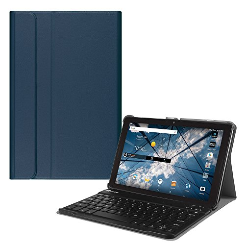 Fintie AT&T Primetime 10 Inch Tablet Keyboard Case - Slim Shell Stand Cover with Magnetically Detachable Wireless Bluetooth Keyboard for ATT / ZTE Primetime K92 10