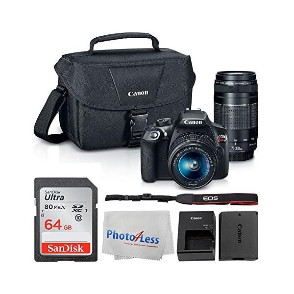 51SCMLmB1IL. SS600  - Canon EOS Rebel DSLR T6 Camera Body + Canon EF-S 18-55mm IS II Lens & EF 75-300mm III Lens + Canon EOS Shoulder Bag…