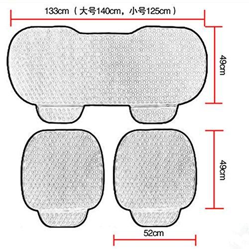 amigable para la piel cubre asiento acolchado p Sedeta/® Cubierta larga de la silla de asiento trasero del veh/ículo del coche de lujo del terciopelo Alfombrilla protectora acolchada para conductor SUV
