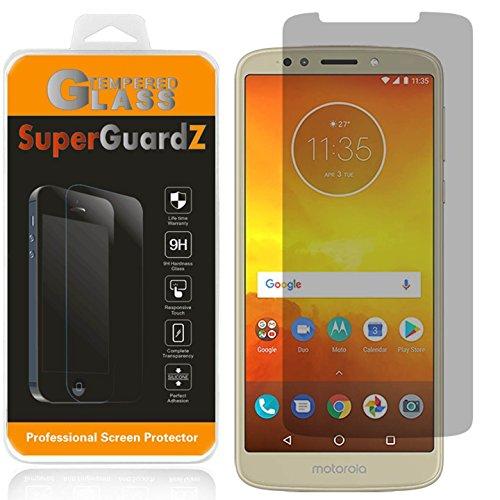 for Motorola Moto E5 Plus/Moto E5 Supra Tempered Glass Screen Protector [Privacy Anti-Spy], SuperGuardZ, 9H Anti-Scratch, 2.5D Round Edge, Anti-Bubble [Lifetime Replacements]