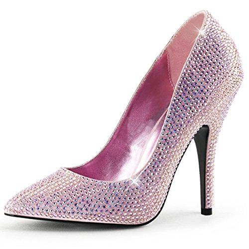 Heels-Perfect - Pantuflas de caña alta de material sintético mujer rosa - Rosa