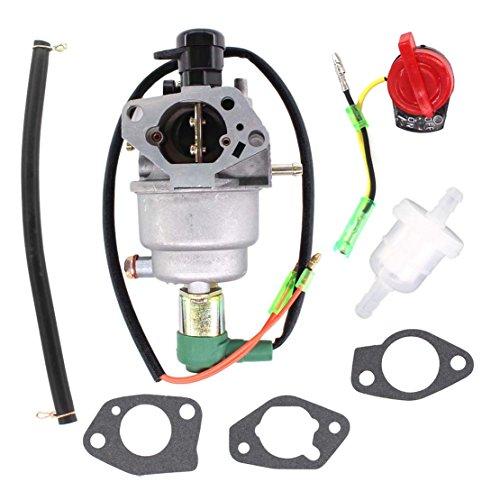 USPEEDA Carburetor Fuel Line Filter Gasket Stop Switch for Homelite HG5000 HG6000 HGCA4500 HGCA5000 500 5000 6250 Watt 389cc