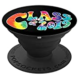 Senior Class of 2019 Colorful Tie Dye Black Graduation Gift - PopSockets Grip and Stand for Phones and Tablets