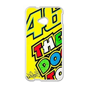 HTC One M7 Phone Case White Valentino Rossi ESTY7809020