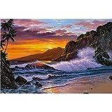 (US) CRPSEN 5D DIY Diamond Painting Sunset Surf Wall Sticker 3D Diamond Mosaic Cross Stitch Embroidery by Number Kits