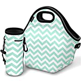 Kaptron Lunch Bag, Thick insulated Lunch Tote Lunch Box Bag with Shoulder Straps and Bottle Holder/Cover for adults, women, girls, school children - Suitable for Travel, Picnic, Office (Large)