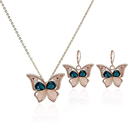 Cat Eye Butterfly Jewelry Set.