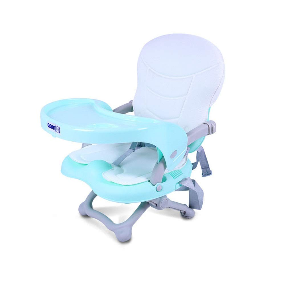 Kids' Desk & Chair Sets Removable Baby Highchair Infant Tray Travel Booster Seat Feeding Dinning Chair Foldable High Chair (Color : Blue, Size : 374250cm) by Liuxina