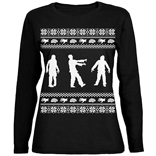 Women's Zombie Ugly Christmas T-Shirt