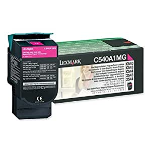 Lexmark C540A1MG C54X/X543/X544 Return Program Magenta Toner Cartridge