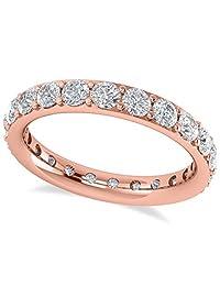 14k Gold Diamond Eternity Wedding Band