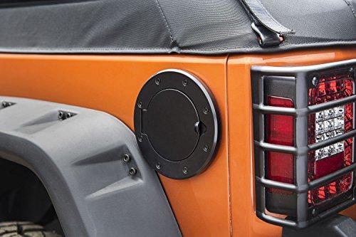 Outland 391142505 Black Non-Locking Gas Cap Door for Jeep JK Wrangler