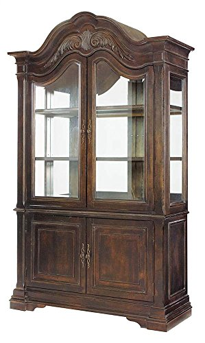China Modern Cabinet American (American Drew 605186 Curio China Cabinet in Tuscan Smoke)
