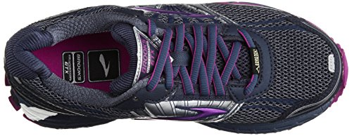 Brooks Running Adrenaline ASR 11 GTX,Scarpe sportive, Donna, Nero ( Vintage Indigo/Midnight/Purple Cactus Flower)