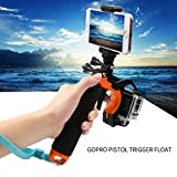ARCHE GoPro Waterproof Pistol Shutter Trigger Kit for Gopro Hero 6 Black, Gopro Hero 5, Hero 4,Hero 3+ Hero 3, Hero+LCD Yi Action SJCAM Xiaomi (Blue/Green/Orange/Pink/Yellow) (Orange)