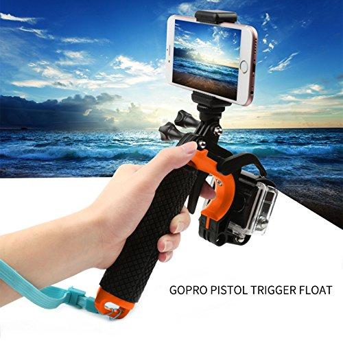 ARCHE GoPro Waterproof Pistol Shutter Trigger Kit for Gopro Hero 6 Black, Gopro Hero 5, Hero 4,Hero 3+ Hero 3, Hero+LCD Yi Action SJCAM Xiaomi (Blue/Green/Orange/Pink/Yellow) (Orange) by ARCHE