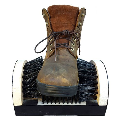 Shoe Boot Cleaning Brush - Floor Mount Scraper - Commercial Grade With Permanent Mounting Hardware For Indoor / Outdoor Use